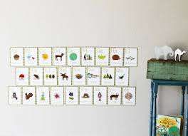 amazon com english alphabet 5x7 wall cards nature themed kid s amazon com english alphabet 5x7 wall cards nature themed kid s wall art nursery decor kid s room decor gender neutral nursery decor baby