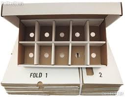 trading card sorting storage box by bcw 10 compartment cardboard