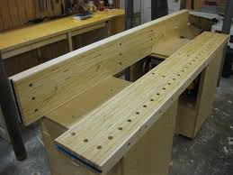 a fascinating workbench top idea made from