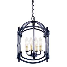 Indoor Hanging Lantern Light Fixture World Imports Hastings Collection 4 Light Indoor Rust Hanging