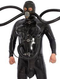 halloween gas mask costume inflatable latex usa