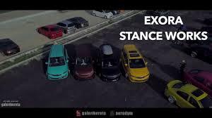 kereta bmw biru exora stance works youtube