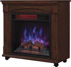 Infrared Quartz Fireplace by Twinstar Home Powerheat Infrared Rolling Mantel Quartz Electric