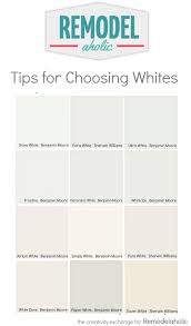 Online Paint Color by Tricks For Choosing The Perfect White Paint Color Remodelaholic