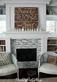 winter mantel the lilypad cottage