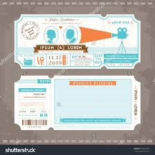 create invitations ticket wedding invitations plumegiant