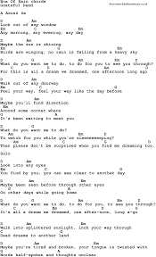 Box Songs Song Lyrics With Guitar Chords For Box Of