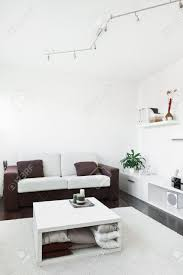 White Modern Living Room Modern Living Room With Computer Desk And The Screen Sofa And