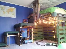Big Bunk Beds Astonishing Ideas For Pallet Loft Bunk Beds Wood Pallet Ideas