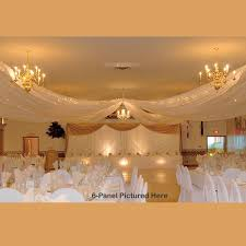 How To Hang Ceiling Drapes For Events Sheer Ceiling Draping Kits