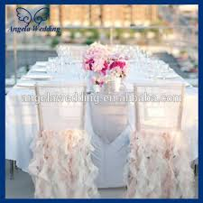 fancy chair covers ch005e hot sale wholesale custom made fancy organza ruffled curly