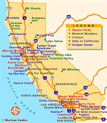 California Travel Places images Map reference california points of interest map reference jpg