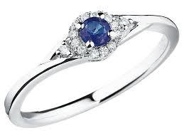 pierscionki apart pierścionek z białego złota z brylantami i szafirem wzór 103 150