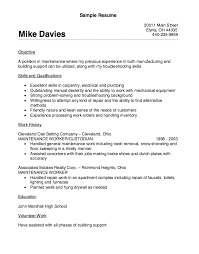 Maintenance Supervisor Resume Sample by Vibrant Inspiration Maintenance Worker Resume 16 Building Peaceful
