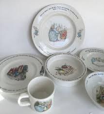 rabbit wedgwood 6 pc child set wedgwood china beatrix potter rabbit