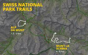 China Camp Trail Map by Hiking The Swiss National Park The Hidden Gem Of
