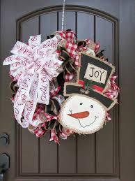 2017 burlap snowman wreath tutorial trendy tree blog holiday