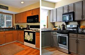 Painted Wooden Kitchen Cabinets Painting Kitchen Cabinets Before And After Ellajanegoeppinger Com