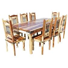 Rustic Dining Room Table Philadelphia Solid Wood Rustic Transitional 9pc Dining Table Chair Set