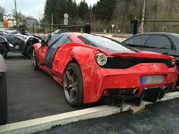 458 spider speciale ouch this wrecked 458 speciale tp be careful rear