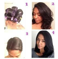 Roller Set Hairstyles Amazing Roller Set On Natural Hair Roller Set Hair Style And