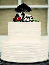 tractor wedding cake topper wedding cake topper tractor picture awesome tractor cake toppers