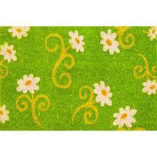 Coco Doormat Envelor Home Jasmine Flower Coir Coco Doormat Wayfair Ca