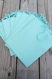 blue gift bags 10 pack 8x4x10 turquoise gift bags heavy weight paper