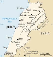 lebanon on the map the of lebanon emet