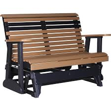 Gliding Adirondack Chairs Luxcraft Rollback 4ft Recycled Plastic Glider Bench Rocking