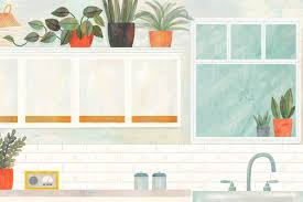 plants for on top of kitchen cabinets how to make the space above kitchen cabinets look