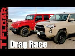 jeep wrangler limited vs unlimited 2016 toyota 4runner trd pro vs jeep wrangler rubicon drag race