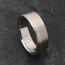 Mens Titanium Wedding Rings by Rose Gold And Titanium Ring Titanium Wedding Ring Mens Titanium