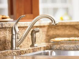 moen kitchen faucets rubbed bronze moen 7840 chrome low arc kitchen faucet and side spray from the