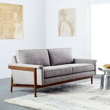 Beige Sofa And Loveseat Leon Wood Frame Loveseat 68