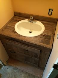 another bathroom vanity made from pallet wood luxury modern