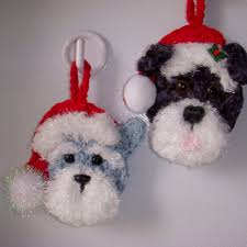 crochet ornaments dogs my own design no pattern