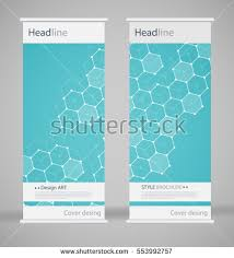 fancy brochure templates brochure cover design abstract roll up stock vector 553992757