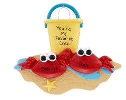 crab personalized ornament