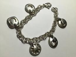 tiffany heart silver bracelet images Tiffany co silver stencil heart sun moon star horseshoe charm jpg