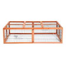 Large Rabbit Hutch Pawhut Wooden Rabbit Hutch Poultry Cage Aosom Ca