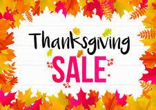 thanksgiving autumn sale text poster for september shopping promo