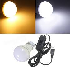 5w usb led light bulb with switch for outdoor cing hiking