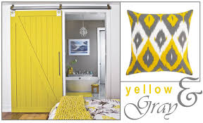 Gray And Yellow Bathroom by Obsessed With This Yellow Barn Door First Saw It In A Model Home