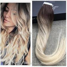 russian hair extensions color 3 4 613 shine ombre human hair balayage skin