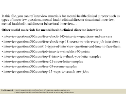 top 10 mental health clinical director interview questions and answers