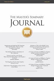 journals archive the master u0027s seminary