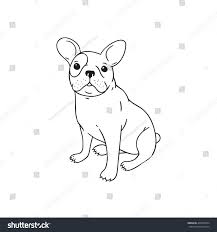 handdrawn pen french bulldog dog puppy stock vector 409220224