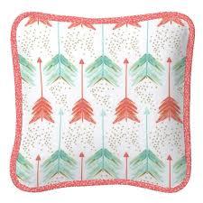 coral and teal arrow nursery decor carousel designs