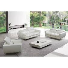white leather contemporary sofa loveseat set aecagra org
